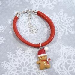 Bransoletka z piernikowym Mikołajem