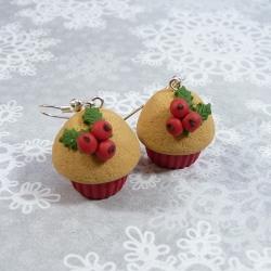Kolczyki świąteczne muffinki