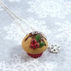 Naszyjnik świąteczna muffinka