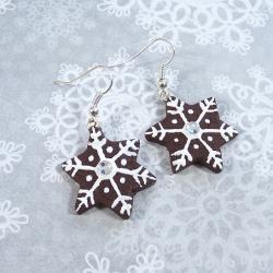 Kolczyki piernikowe gwiazdki