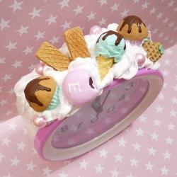 Budzik z muffinkami i lodem