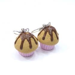 Kolczyki muffinki z polewą