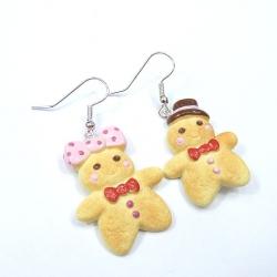 Kolczyki ciasteczkowe ludziki