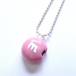 Naszyjnik cukierek różowy