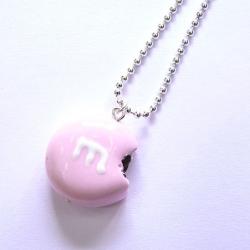 Naszyjnik cukierek jasnoróżowy