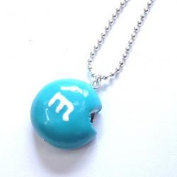 Naszyjnik cukierek niebieski