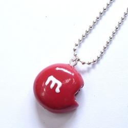 Naszyjnik cukierek czerwony