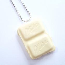 Naszyjnik czekolada biała