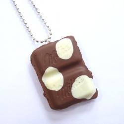 Naszyjnik czekolada w łaty