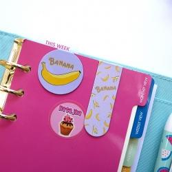 Zakładki do książki banan