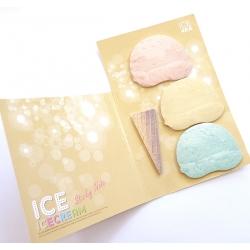 Karteczki samoprzylepne lód gałkowy