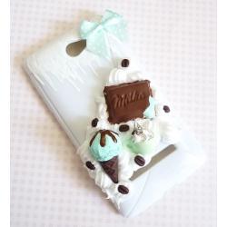 Obudowa na telefon z miętowymi słodyczami