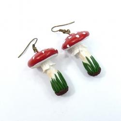 Kolczyki muchomorki