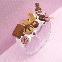 Budzik z kremem czekoladowym i lodem