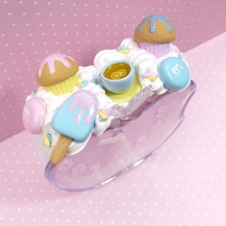 Budzik z lodem, muffinkami i cukierkami