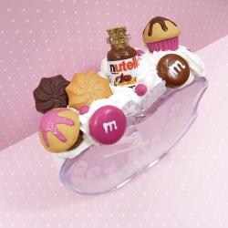 Budzik z kremem czekoladowym i muffinkami