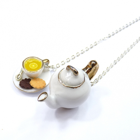 Naszyjnik miniaturki ceramiczne