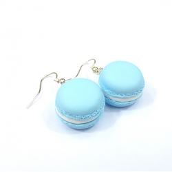 Kolczyki makaroniki jasnoniebieskie