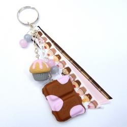 Brelok z czekoladą i muffinką