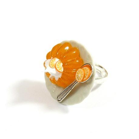 Pierścionek galaretka pomarańczowa