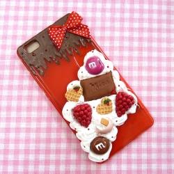 Obudowa na telefon z malinami i czekoladą