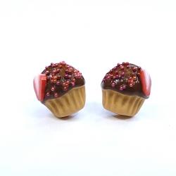 Sztyfty muffinki z truskawkami