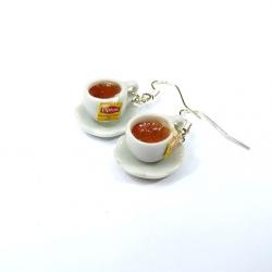 Kolczyki miniaturowe filiżanki