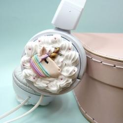Słuchawki białe z jednorożcami