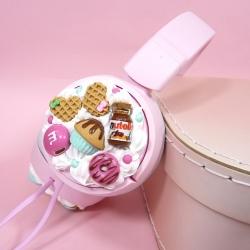 Słuchawki różowe ze słodyczami