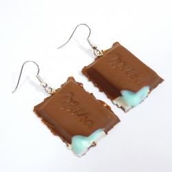 Kolczyki czekoladki