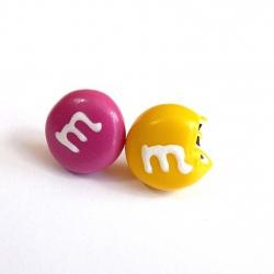 Sztyfty cukierki żółty i różowy